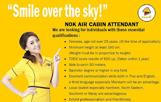Nok Air's new recruitment advert on Facebook