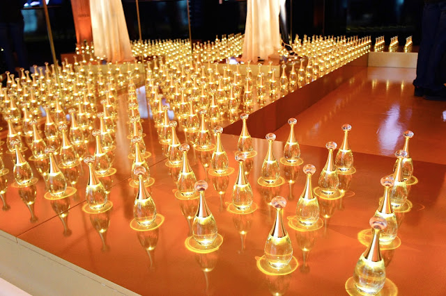 Display of Dior fragrancs