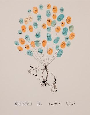 Bleu de Toi small custom pig with balloons