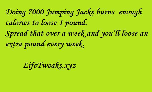 Doing 7000 jump jacks burns enough calories