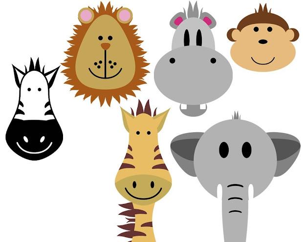 safari animals clip art 080912