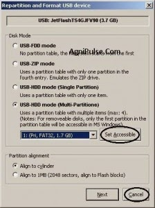 Accéder aux partitions de l'USB Flash Drive dans Windows