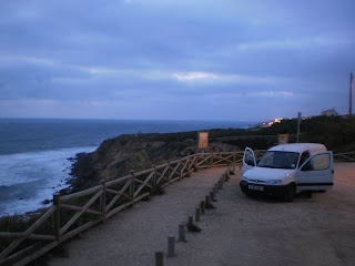 ericeira, van, night, beach