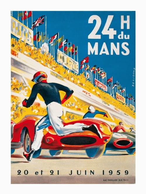 Affiche officielle des 24 Heures du Mans 1959