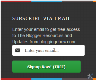 aWeber Style email subscription widget