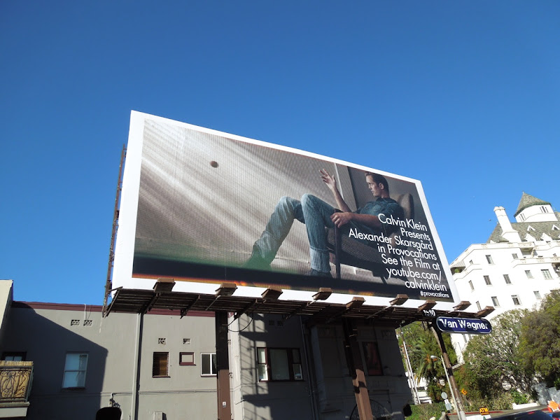 Alexander Skarsgrd Calvin Klein Provocations billboard