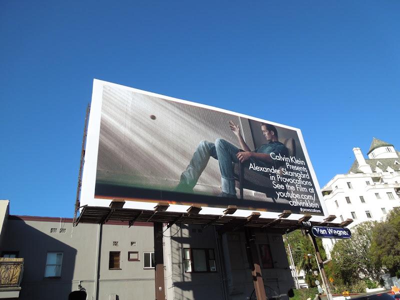 Alexander Skarsgård Calvin Klein Provocations billboard