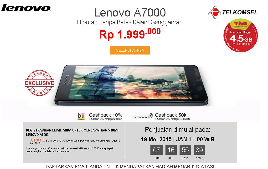 Lazada Indonesia Lenovo A7000 FLASH