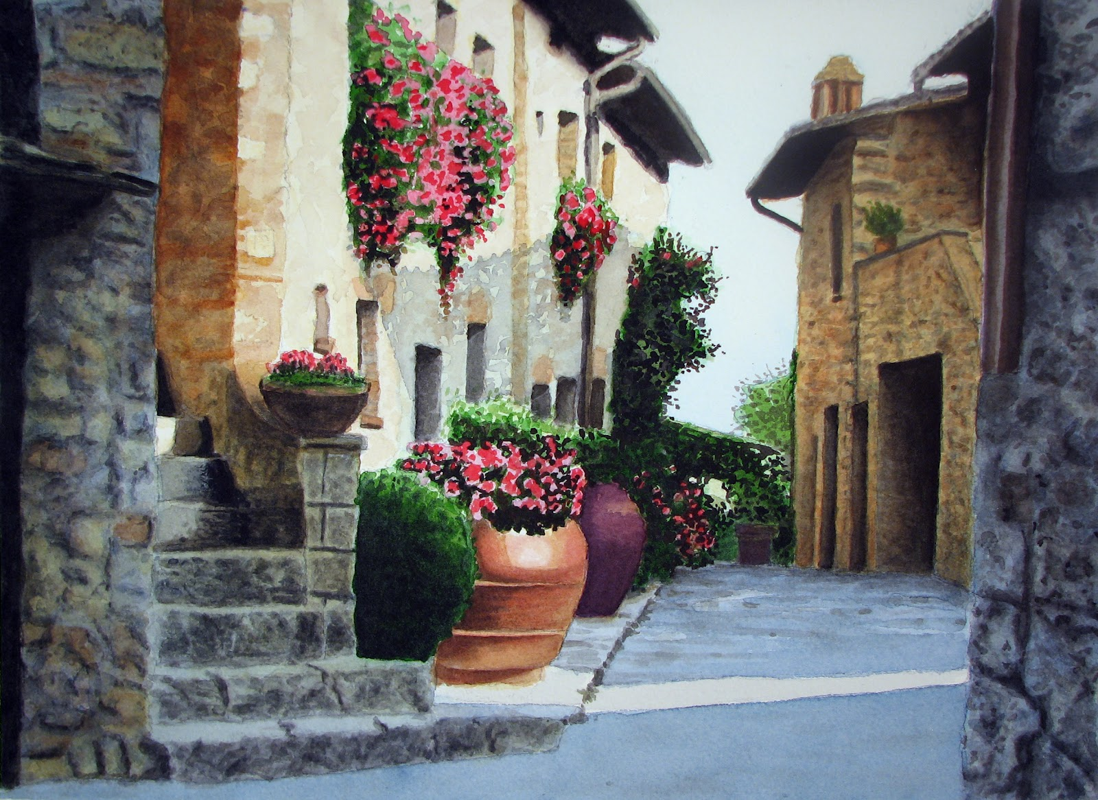 Inspiring Tuscan Courtyards 14 Photo Building Plans