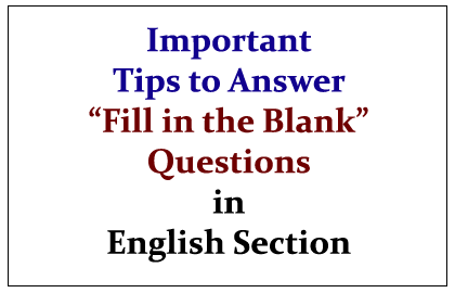 answers to fill in the blank questions