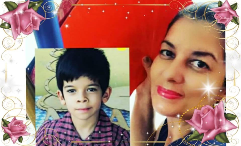 Márcia Cris e seu ajudante Pedrinho