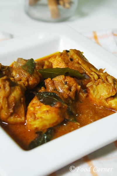 Sri Lankan Chicken curry with raw spices