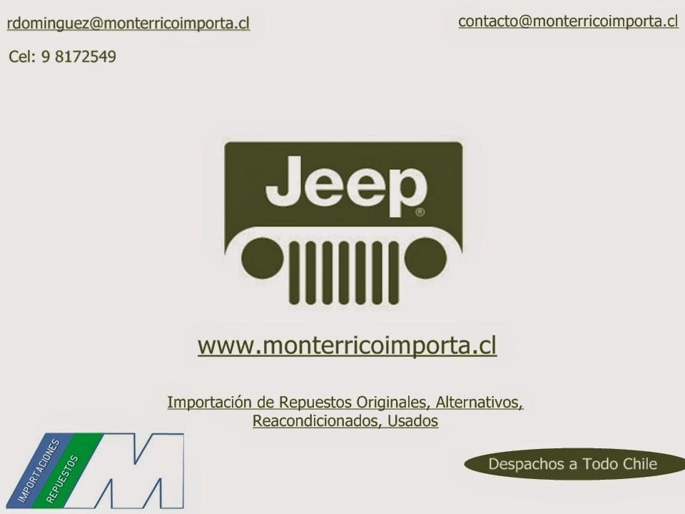 Repuestos Jeep Chile Multimarca Originales Alternativos Reacondicionados Despachos A Todo Chile