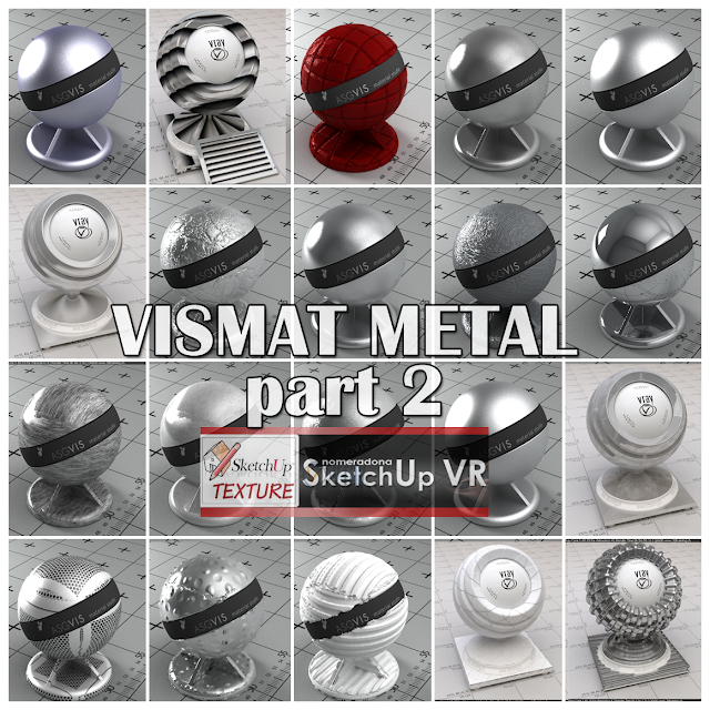 vray for sketchup vismat metal part #2