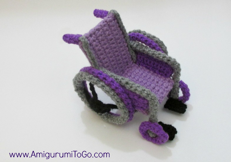 purple crochet wheelchair