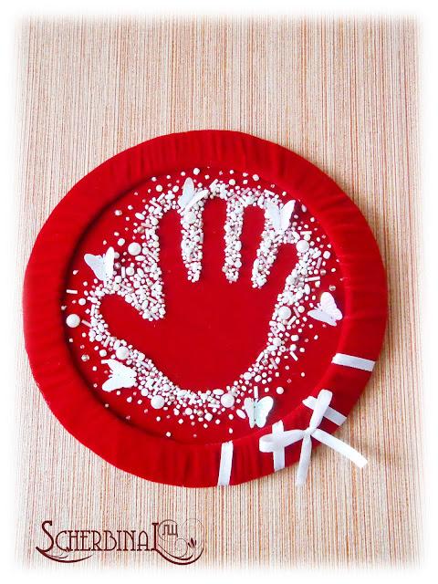 Вышивка бисером детская ладошка
