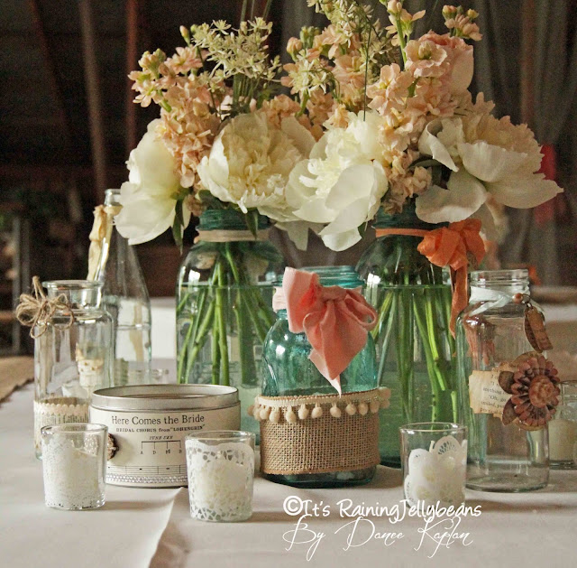 Wedding Table Centerpieces   It's Raining Jelly Beans
