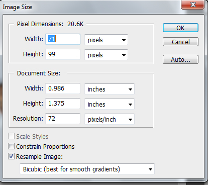 how to change size of photoshop document
