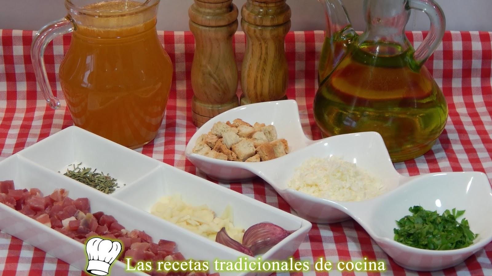 Receta de sopa de jamón