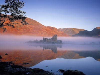 Castle Kilchurn Castle Full HD Nature Background Wallpaper For Laptop Widescreen