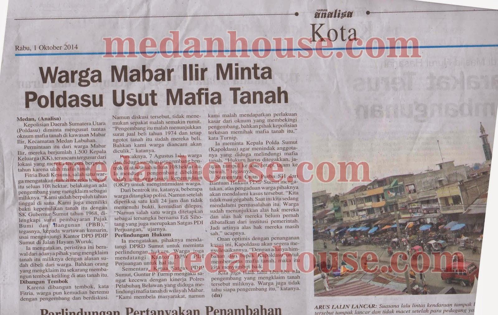 klipping koran analisa mafia tanah