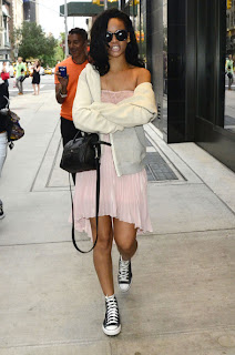 RIHANNA walking around NY city