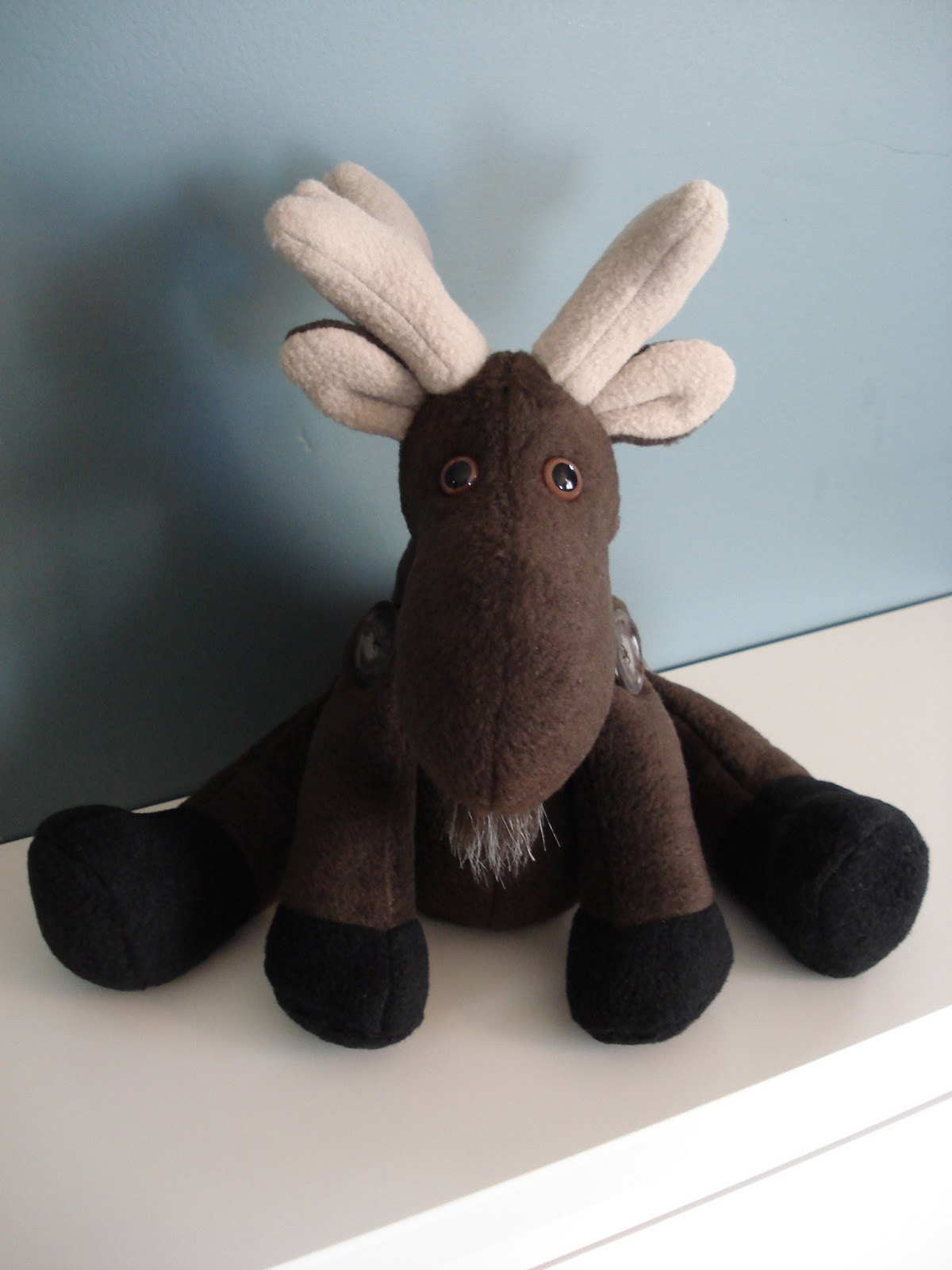 Fleece Menagerie Moose Named Jameel Sold