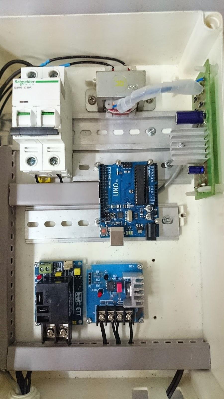กล่องควบคุมโดยบอร์ด Arduino UNO (Control Box by Arduino UNO)