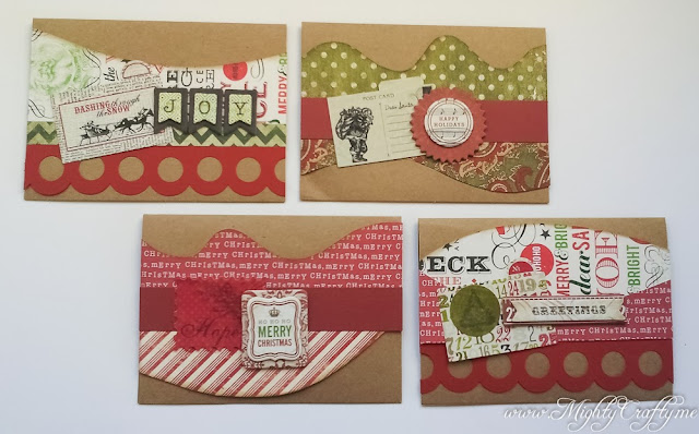 Quick and Easy Christmas Card Set -- www.MightyCrafty.me
