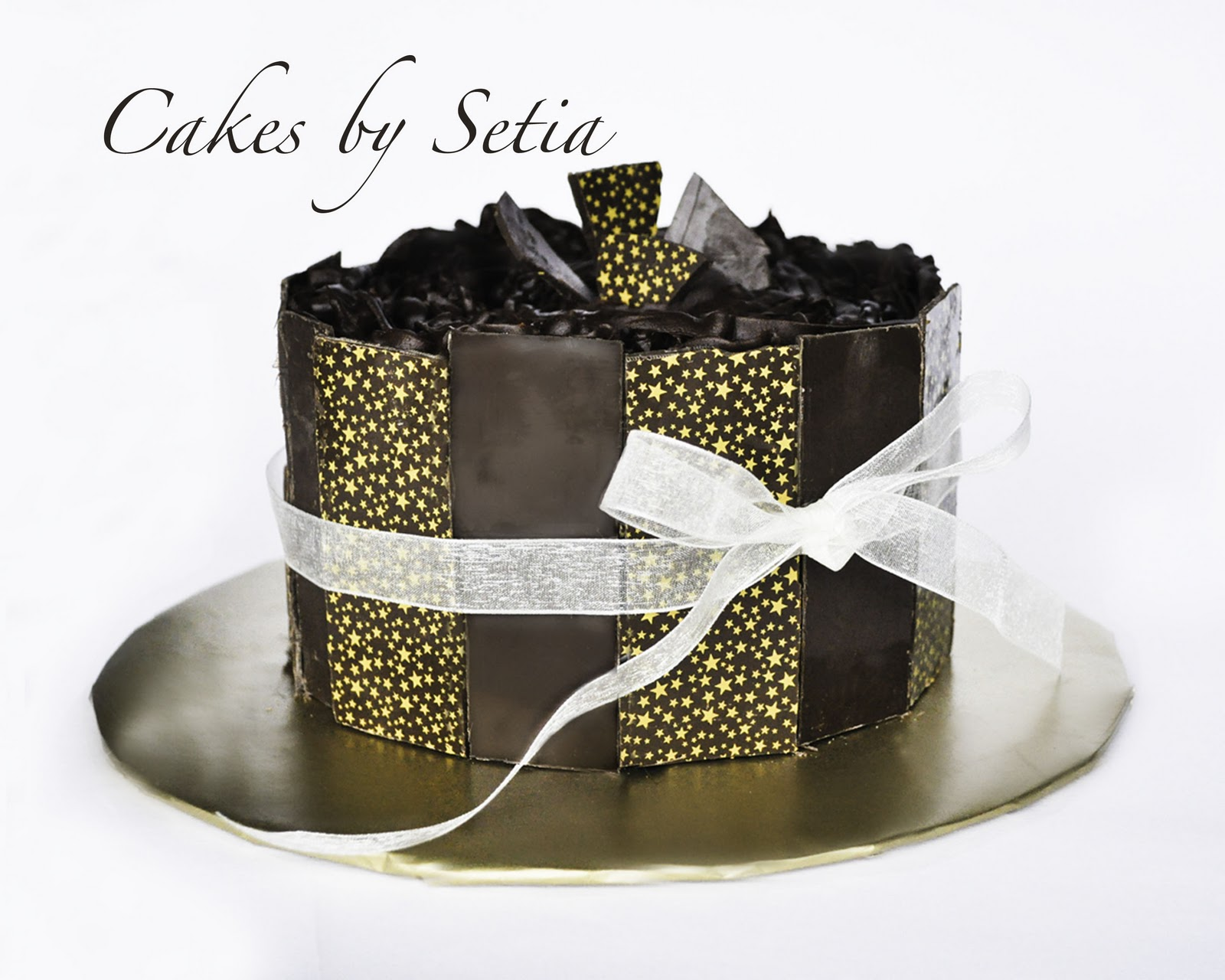 Cakes by Setia: Chocolate Panel Cake with Stars