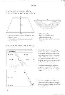 Single Scallop - mengukur dan memotong kain