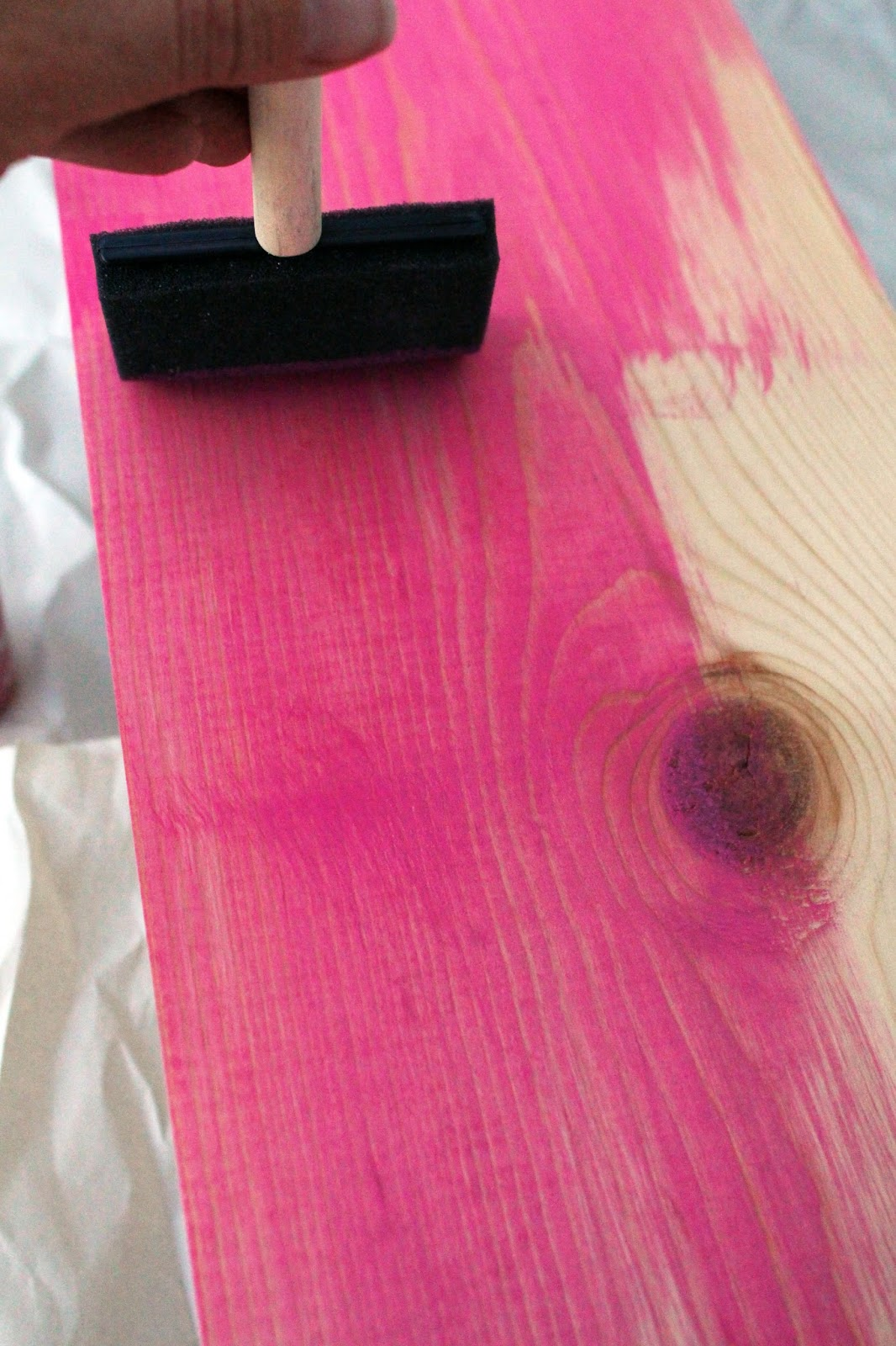pink wood stain