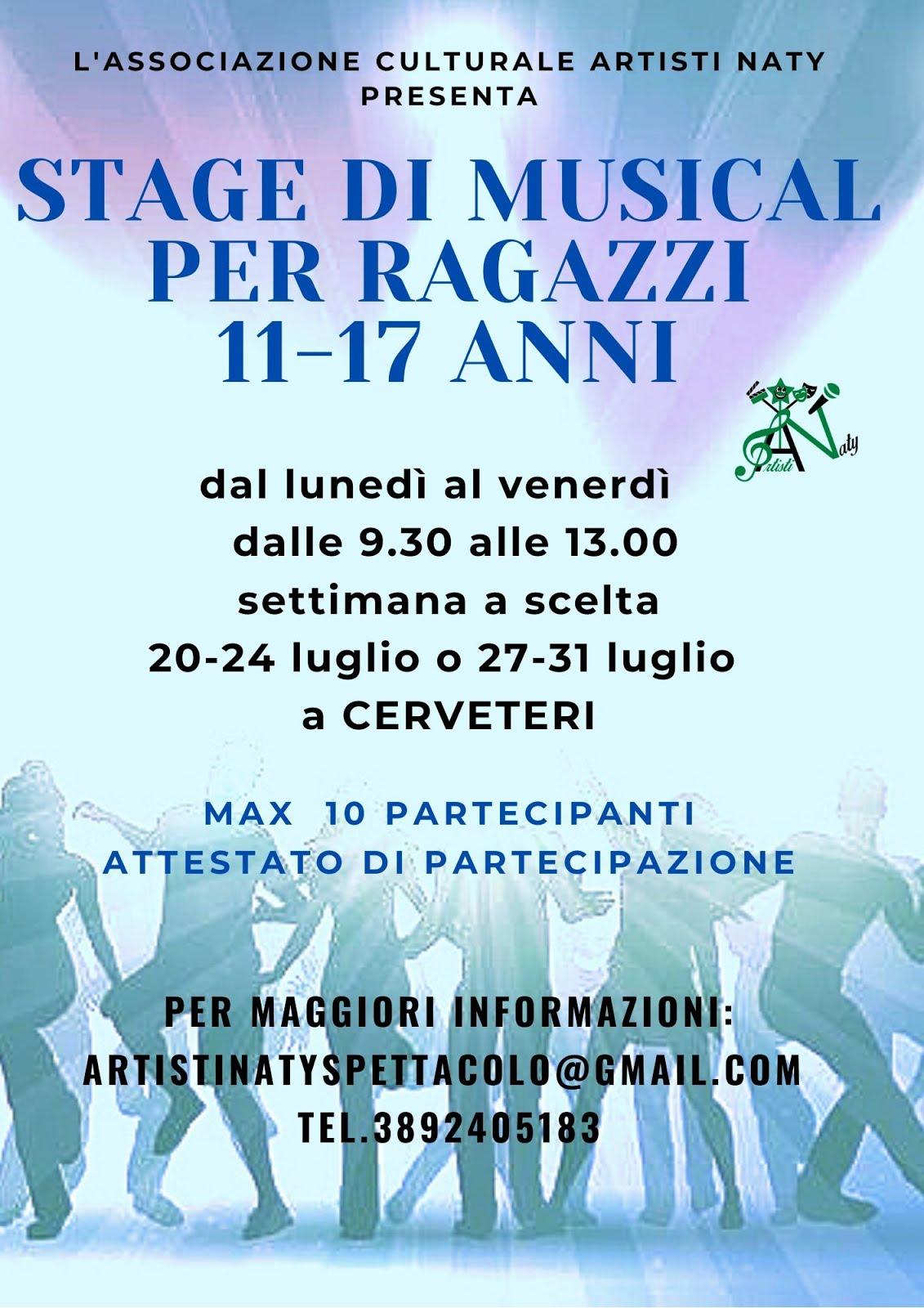 STAGE DI MUSICAL 11-17 ANNI