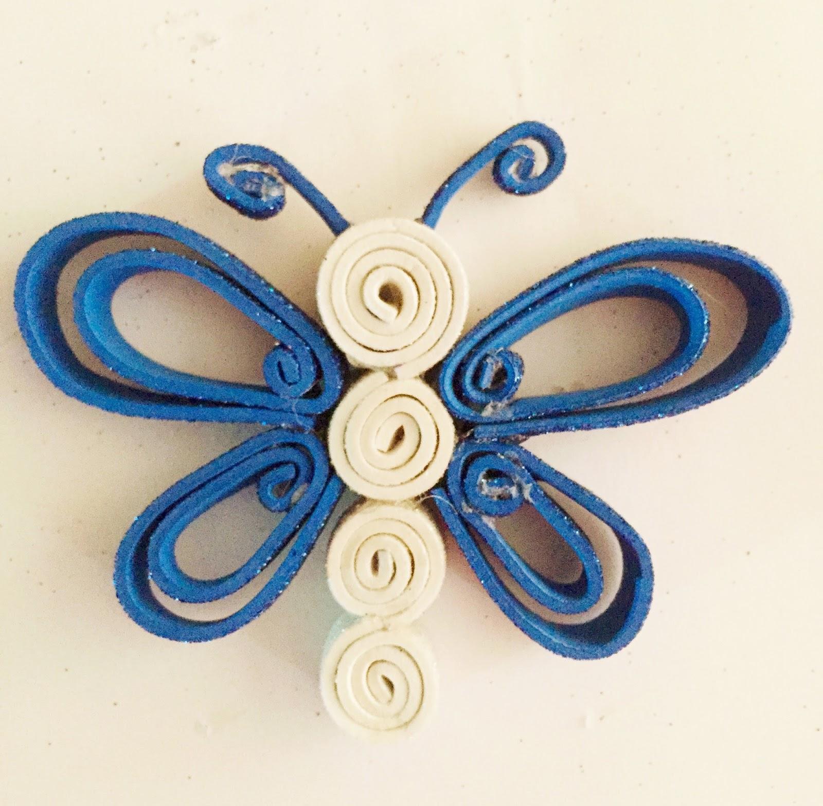 Mi mundo creativo mariposa de goma eva - Como hacer mariposas de goma eva ...