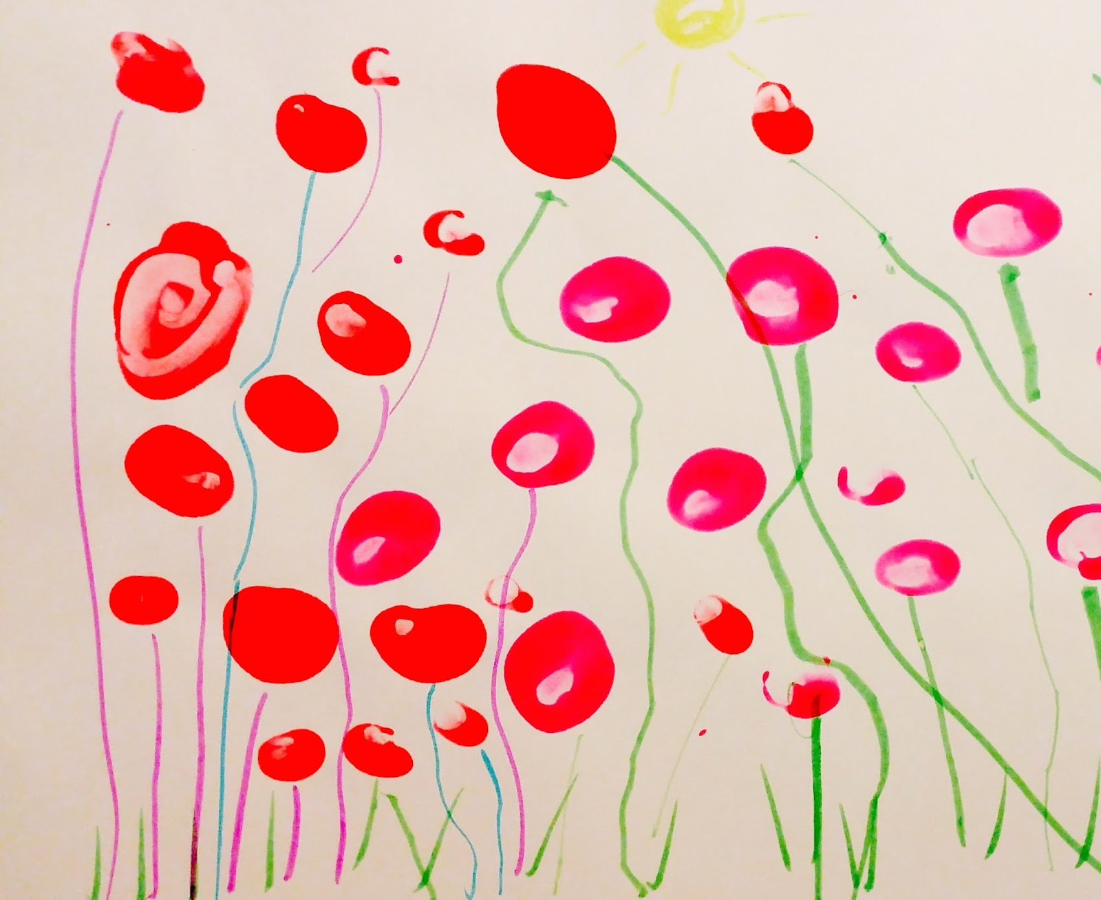 The Practical Mom: How a 3 yr olds can paint their first flowers