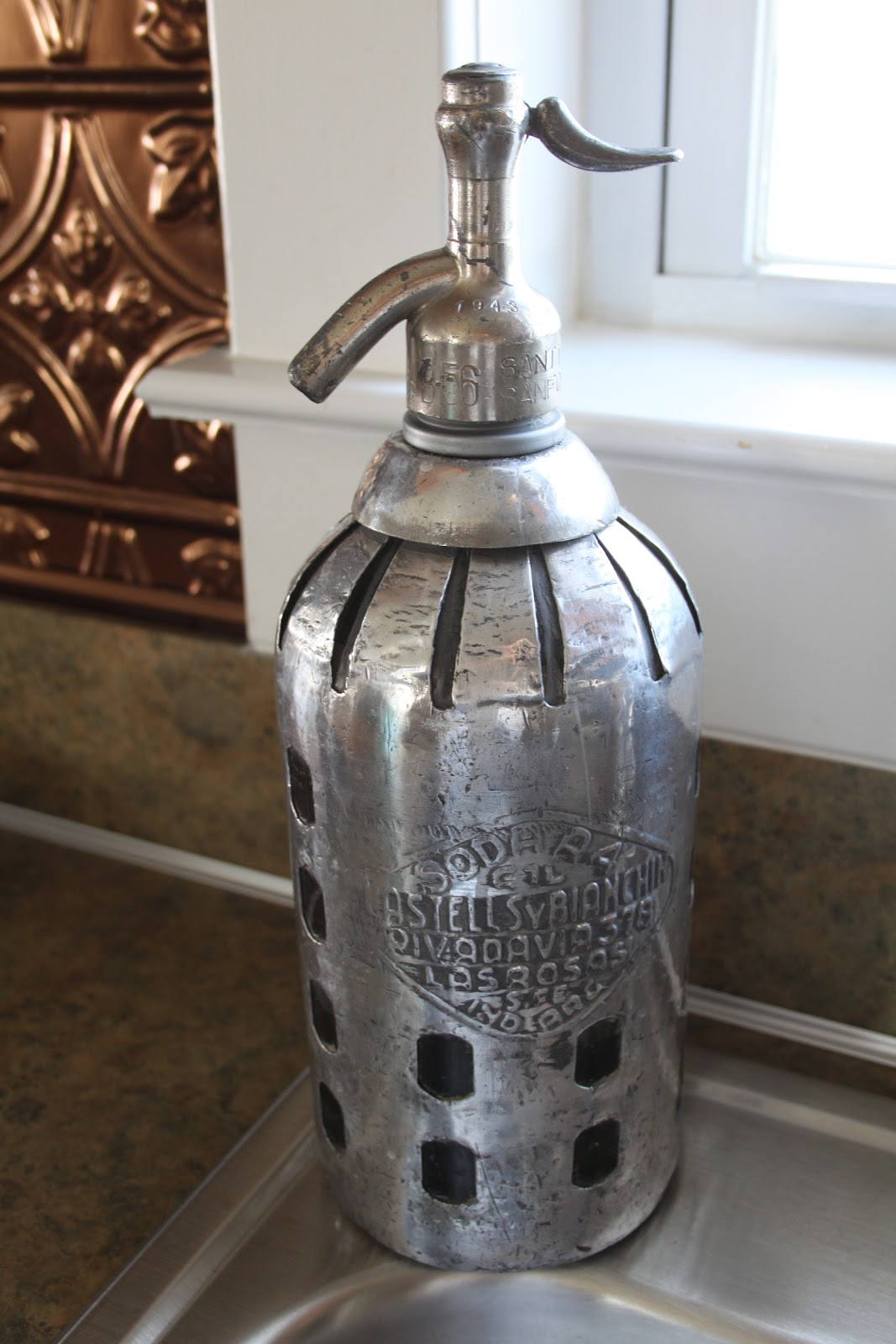 Antique Glass Soap Dispenser