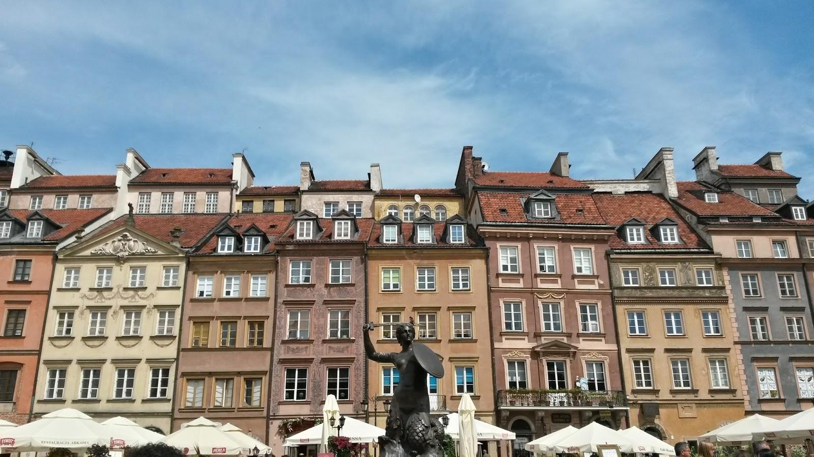 Varşova Polonya Old Town Denizkızı warsaw