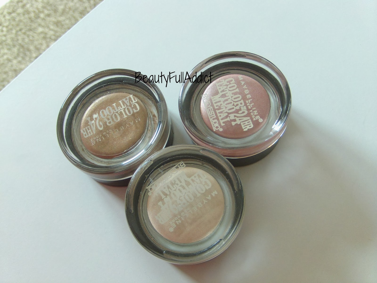 Beautyfull addict review maybelline color tattoo 24 hour for Maybelline color tattoo gel eyeshadow