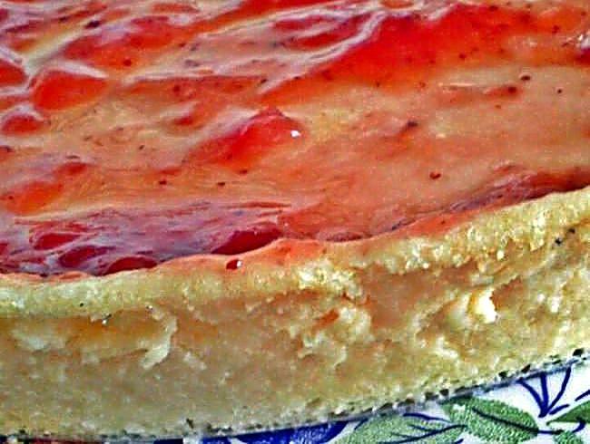 Tarta de queso philadelphia con mermelada