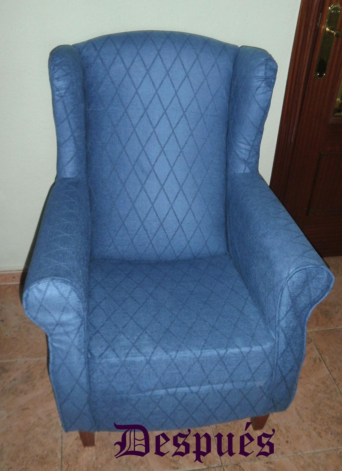 Pasi n por las labores sof sillones y sillas tapizados - Telas tapiceria sillas ...