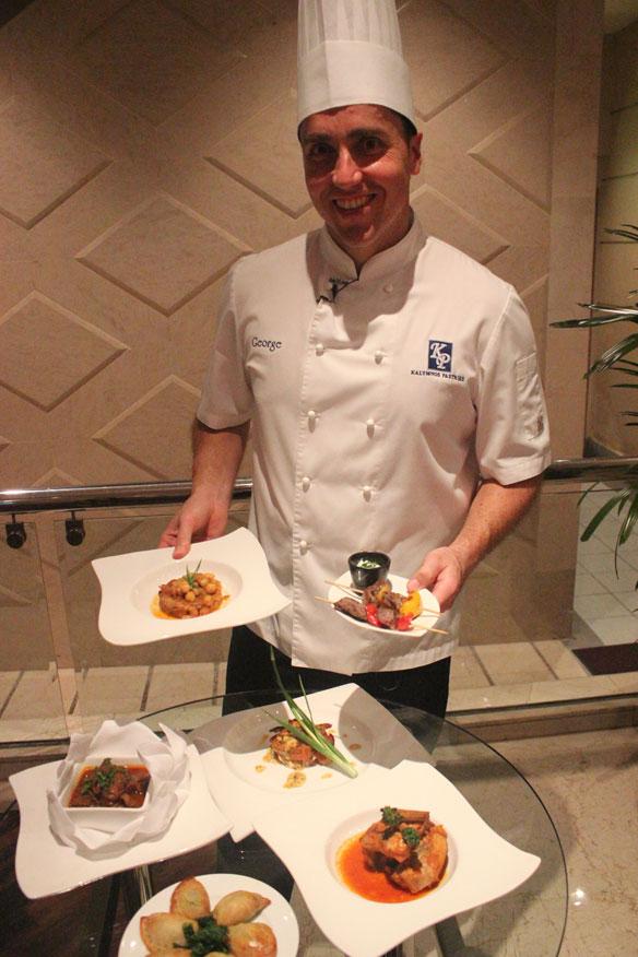 Greek mediterranean buffet dinner at eccucino prince for Achillion greek cuisine prince george bc
