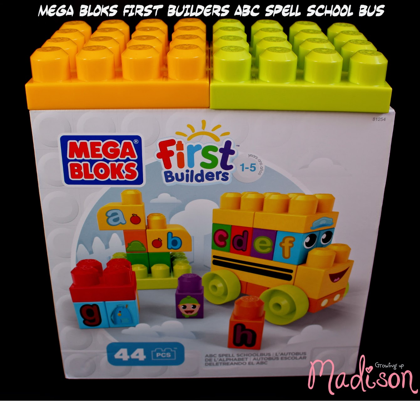 A b c spell school bus by mega bloks first builders for Blog builders
