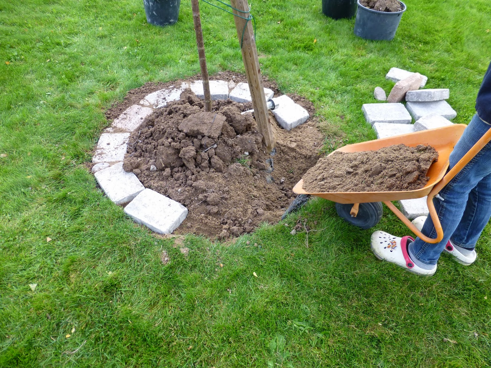 Baumumrandung mit steinen ideen f r die beeteinfassung for Rasenkantensteine bauhaus