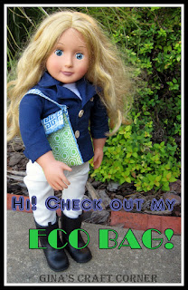 Eco bag for 18 inch dolls