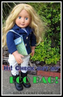 Eco bag for 18 inch dolls