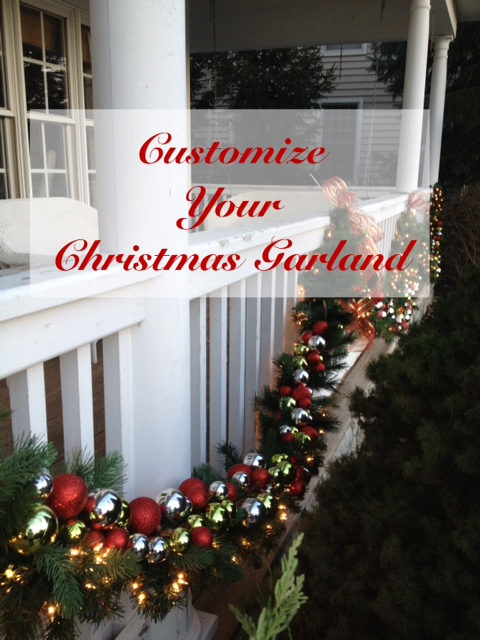 hereu0027s a quick and easy way to get a custom look for your christmas garland i already had the garland but i wanted to make it a little more special by