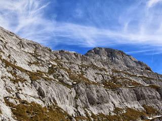 Westgrat und Gipfelaufbau