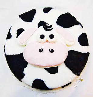 pasta di zucchero torta mucca