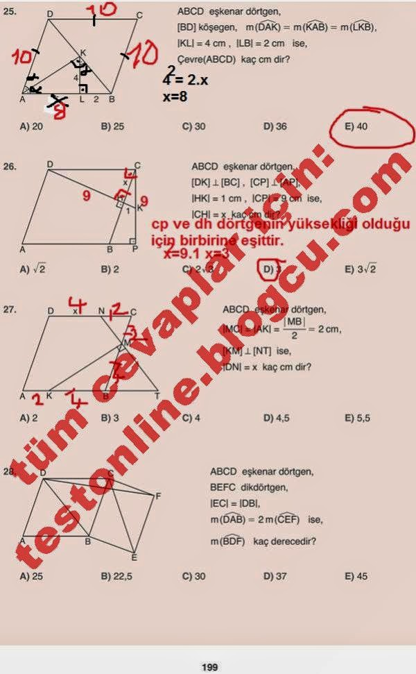 10 Sinif Matematik Netbil Yayinlari Ders Kitabi Cevaplari Sayfa 199