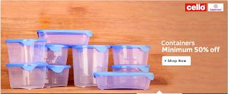 Buy container at minimun 50% off via flipkart : Buytoearn